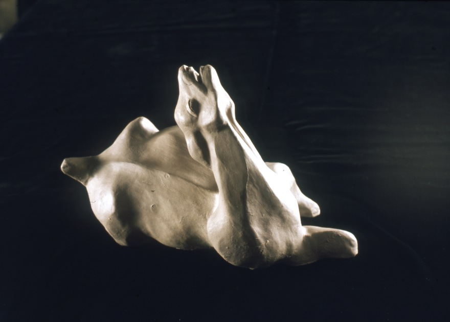 animal-giving-birth-view-1-1976-clay-5x9-5in