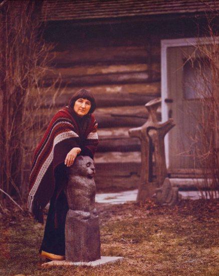 elizabeth-lionowl-moon-maiden-with-rain-cup-face-osterhaut-cabin-studio