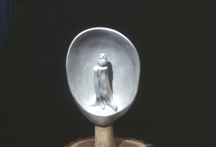 moon-owl-on-stump-1987-clay